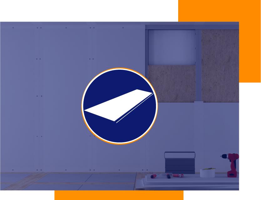 construcción en seco: pladur o placa de yeso laminado, perfiles y pastas para tabiquería, falsos techos y trasdosados en Madrid