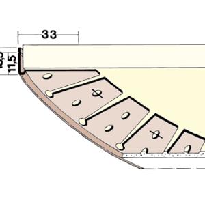 Perfil en J para encajar 3768 PVC