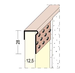 Perfil en J para encajar 3787 PVC