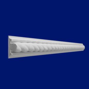 Baquetón N20 con trenza color blanco