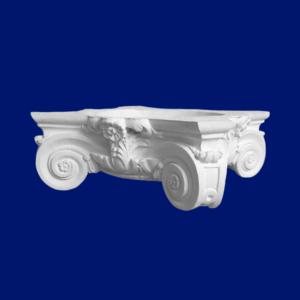 Capitel de columna N2, elegante y sencillo en escayola