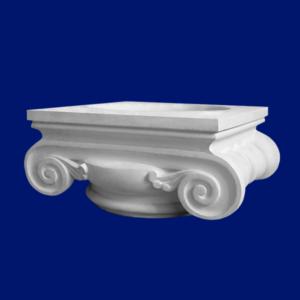 Capitel clásico para columna realizado con escayola decorativa.