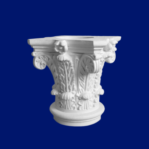 Capitel de escayola blanca para decoración