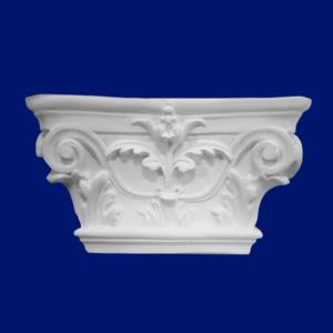 Capitel de columna con motivo floral