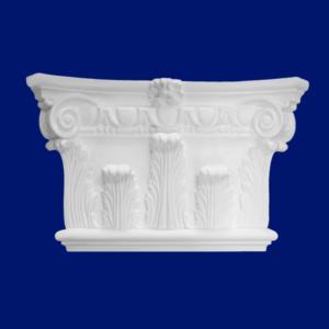 Capitel de columna de escayola en Lafuente