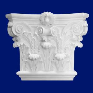 Capitel de columna de escayola con adornos