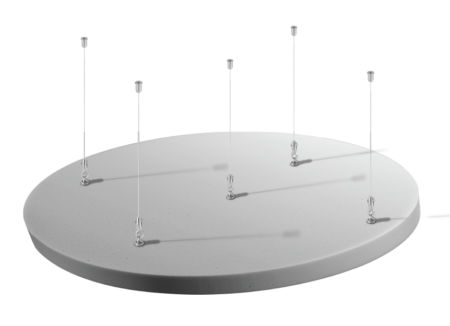 Isla circular acústica para techo Ecocero