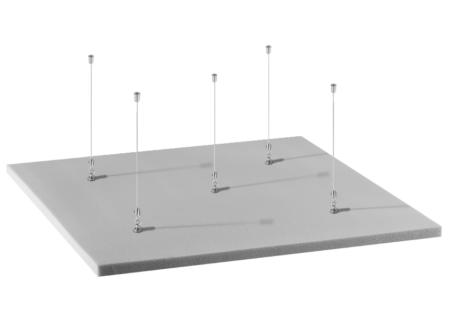 Isla acústica cuadrada para techo