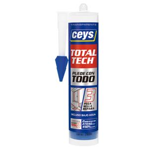 Adhesivos CEYS. Cartucho Total Tech para ferretería.