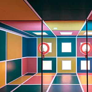 Falso techo desmontable color-all de Rockfon
