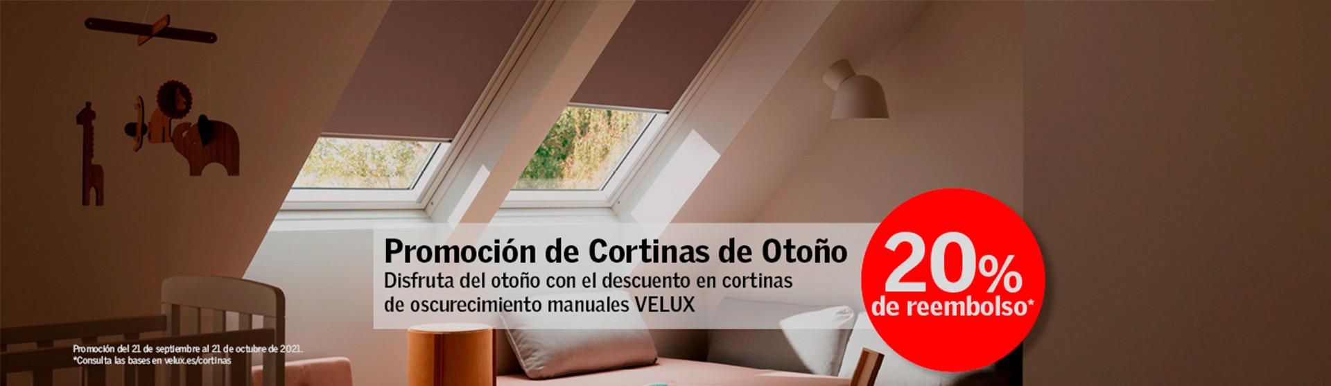 Promoción cortinas VELUX en Madrid