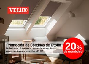 Promoción en cortinas VELUX para ventanas de tejado